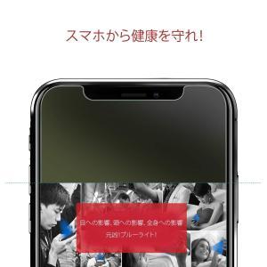 ブルーライトカットNimaso iPhoneXS Max 用 液晶保護ガラスフィルムガイド枠付き日本...