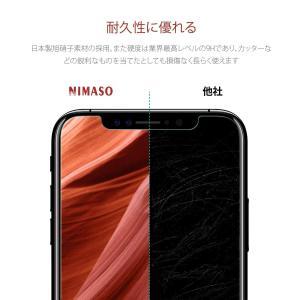 ブルーライトカットガイド枠付き Nimaso iPhone XR 用 強化ガラス液晶保護フィルム 硬...