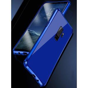 Galaxy S9 メタルバンパー uovon 高品質アルミ製フレーム+バックプレート スクラッチ保...