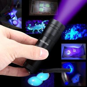 ベステクノ 懐中電灯 紫外線ライト UVライト ブラックライトレジン用の硬化ライト 12LED 懐中電灯 見えない汚れ対策|kirincompany