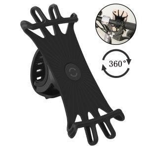 Anoser 自転車ホルダー スマホホルダー 自転車/バイク用スタンド シリコン製 超簡単に脱着 GPSナビ 360度回転可能 4-6インチ|kirincompany