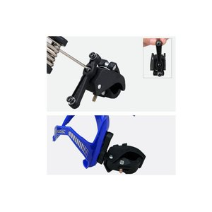 D-drempating 360°回転 簡単 角度調整 ボトルケージホルダー 自転車 ボトル ケージ...