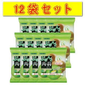 【12袋セット】オリヒロ ぷるんと蒟蒻ゼリーパウチ キウイ 120g(20g×6)×12 kirindo