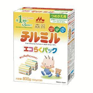 [チルミル3袋付き]森永フォローアップミルク チルミル エコらくパック つめかえ用 800g(400g×2袋)+[ハンディパック3袋]|kirindo