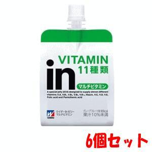 【6個セット】森永製菓 inゼリー マルチビタミン 180g×6 kirindo