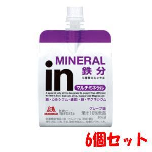 【6個セット】森永製菓 inゼリー マルチミネラル 180g×6 kirindo
