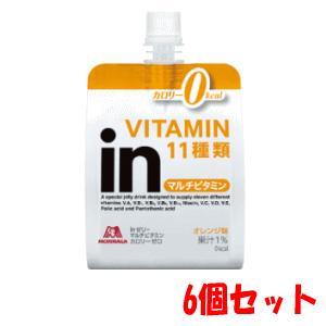 【6個セット】森永製菓 inゼリー マルチビタミン カロリゼロ 180g×6 kirindo