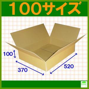 ダンボール箱100サイズ薄型(段ボール箱)50枚 便利線入り(外寸:520×370×100mm)(3ミリ厚)