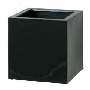 タカショー キューブポット エカール(小) COP-09SBK #36529600 ブラック kiro