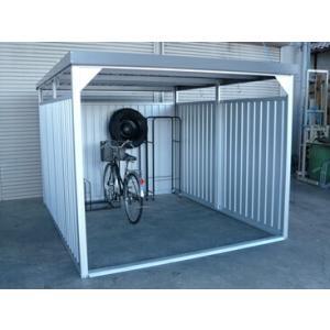 配送条件限定商品 ダイマツ 多目的万能物置 DM-20L 壁パネルロングタイプ 土台寸法 間口2347×奥行2855 『自転車屋根 横雨に強いスチールタイプ』|kiro