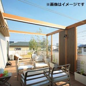 タカショー フレームポーチ 壁付タイプ 1間×4尺 *デッキ・正面パネルなどは別売 ウッド|kiro