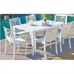 タカショー ベジタル/アルファ テーブルチェア7点セット 『ガーデンチェア ガーデンテーブル セット』 kiro