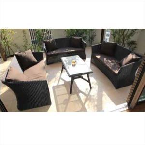 タカショー 庭座 テーブルソファ4点セット 『ガーデンチェア ガーデンテーブル セット』 kiro