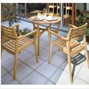 タカショー ロータス テーブルチェアー3点セット 『ガーデンチェア ガーデンテーブル セット』|kiro