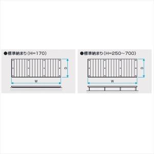 三協アルミ 屋外フローリング ラステラ 標準納まり 束柱・固定 シングルフレームタイプ 2.0間×10尺 H=500 1210 『ウッドデッキ 人工木|kiro|03