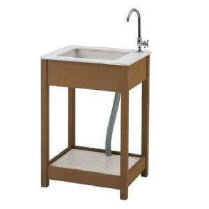 タカショー エバーエコウッド ガーデンシンク 7型 『おしゃれ ガーデンシンク 流し台』|kiro
