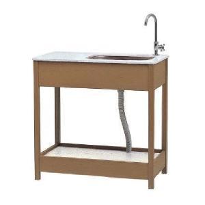 タカショー エバーエコウッド ガーデンシンク 3型 (幅広タイプ) 『おしゃれ ガーデンシンク 流し台』|kiro