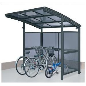 サイクルポート 三協アルミ スマイリン 一般地型 2121 前面・側面パネル 2段タイプ  『サビに強いアルミ製 家庭用 自転車置き場 屋根』|kiro