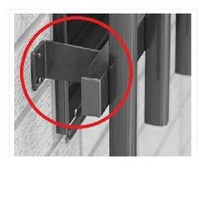YKKAP たて面格子LA専用ブラケット(取付け金具セット) 壁付ブラケット(出幅80mm) 4個入り LA-G-1|kiro