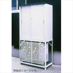 グリーンライフ エアコン室外機カバー:AC-78MM+収納庫:HS-92セット AC-78MM+HS-92 kiro
