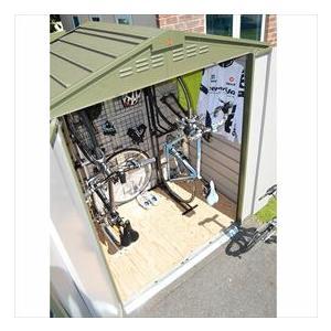 自転車置き場 ガーデナップ 自転車倉庫 TM6サイクルプラス TM6CPSOG 『家庭用 サイクルポート 物置型 おしゃれ』 オリーブグリーン|kiro