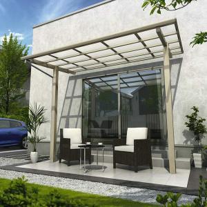 YKK ap 独立テラス屋根(600N/m2) エフルージュグラン ZERO 1間×4尺 標準柱(H2600) T字構造タイプ ポリカ屋根 アルミカラー|kiro