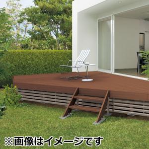 キロスタイルデッキ 木質樹脂タイプ 1間×12尺(3630) 幕板A 調整式束柱NL コーナーキャップ仕様 『ウッドデッキ 人工木』 kiro