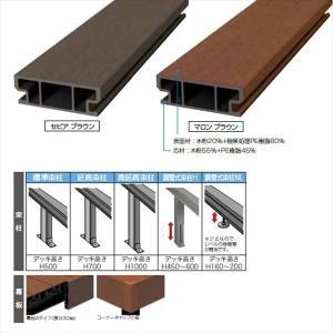 キロスタイルデッキ 木質樹脂タイプ 1間×12尺(3630) 幕板A 調整式束柱NL コーナーキャップ仕様 『ウッドデッキ 人工木』 kiro 02