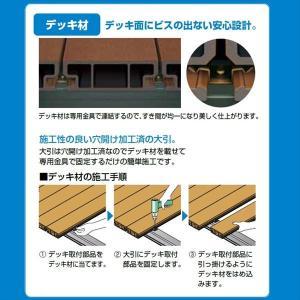 キロスタイルデッキ 木質樹脂タイプ 1間×12尺(3630) 幕板A 調整式束柱NL コーナーキャップ仕様 『ウッドデッキ 人工木』 kiro 03