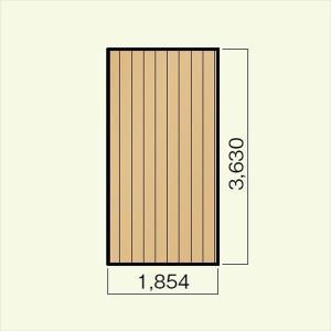 キロスタイルデッキ 木質樹脂タイプ 1間×12尺(3630) 幕板A 調整式束柱NL コーナーキャップ仕様 『ウッドデッキ 人工木』 kiro 04