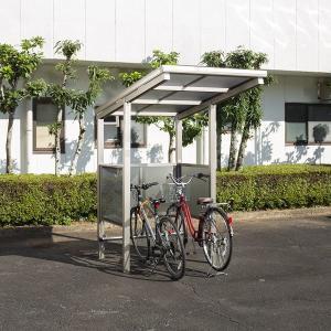 サイクルポート キロスタイル 自転車スペース 積雪20cm仕様 間口12 側面・背面1段パネル BS-1201 2台用 『アルミ製 家庭用 駐輪 自転車置き場 屋根』|kiro