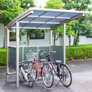 サイクルポート 大仙(ダイセン) 自転車スペース 積雪20cm仕様 間口18 側面・背面1段パネル BS-1801 3台用 『アルミ製 家庭用 駐輪 自転車置き場 屋根』|kiro