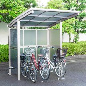 サイクルポート 大仙(ダイセン) 自転車スペース 積雪20cm仕様 間口18 側面・背面2段パネル BS-1801 +BS-P1801 3台用 『アル|kiro