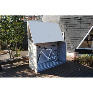 【 欠品中 次回8〜9月入荷予定 】自転車置き場 ガーデナップ 自転車倉庫 TM3 TM3CR 『家庭用 サイクルポート 物置型 おしゃれ』 クリーム|kiro