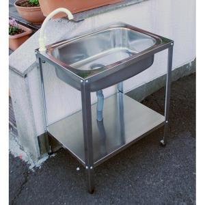 アオヤギコーポレーション ステンレス製簡易流し台(蛇口付) ASN-601 『ガーデン 流し台』|kiro