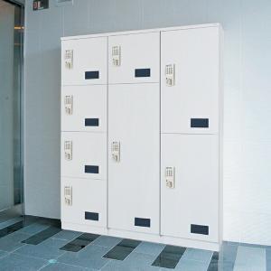【 個人宅配送不可 】 神栄ホームクリエイト  宅配ボックス(テンキー式)  ボックスサイズ 小 + 大    SK-CBX-T03   『集合住宅用|kiro
