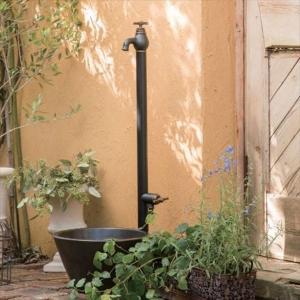 オンリーワン エポカW 水栓柱 TK3-SEWB (専用蛇口・補助蛇口付属)+水鉢セット   マットブラック kiro