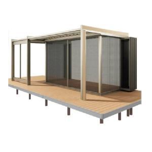 四国化成 ガーデンルーム F.リード憩 キューブタイプ オプション 折りたたみ網戸 間口3231mm×7尺用 FI-NOAQ3221SC|kiro
