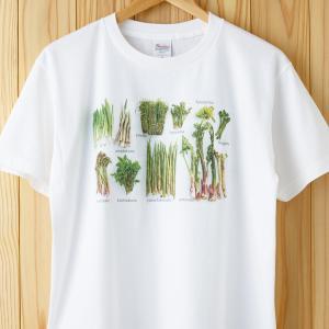 山菜図鑑Tシャツ ホワイト(旧柄) kiru-sansai