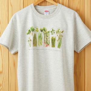 山菜図鑑Tシャツ オートミール|kiru-sansai