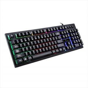 キーボード ゲーム用 ゲーミンキーボード PC用キーボード パソコンゲーム USB接続 光るキーボー...