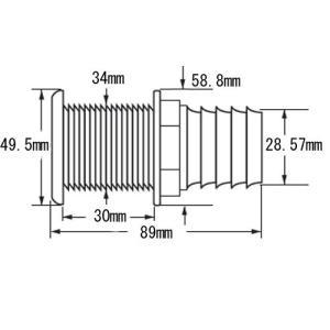 スルハル ストレート 28mmホース用 プラス...の詳細画像1