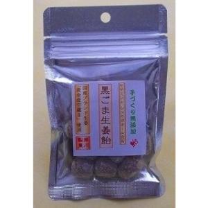 黒ごま生姜飴(50g)|kishikawaseikanoame
