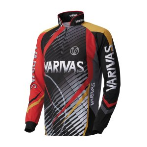 モーリス(MORRIS) VARIVAS ドライジップシャツ 長袖 VAZS-17 レッド 3L|kishinami