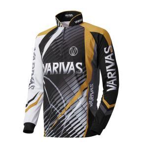 モーリス(MORRIS) VARIVAS ドライジップシャツ 長袖 VAZS-17 ゴールド LL|kishinami