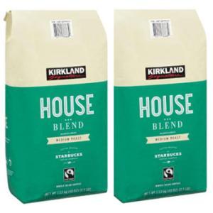 カークランドシグネチャー スターバックス ハウスブレンド コーヒー (豆) 1.13kg x2袋 ミディアムロースト kishionline