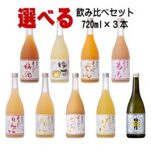 梅乃宿 ゆず酒 あらごしみかん あらごし梅酒 もも りんご れもん ジンジャー 720ml 3本 選...
