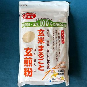 玄米まるごと玄煎粉 玄米食品 山川 北海道産 玄米粉  500g|kisshou