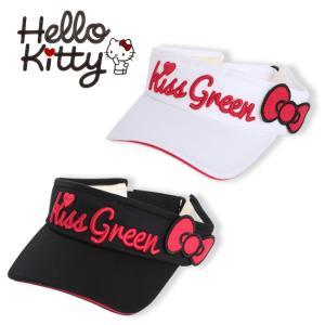 限定Hello Kittyコラボ★キティちゃんリボン付きサンバイザー/ゴルフ ウェア レディース 女...
