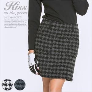 千鳥格子柄ツイードスカート/ゴルフ ウェア レディース 女性用